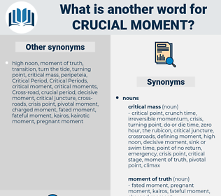 crucial moment, synonym crucial moment, another word for crucial moment, words like crucial moment, thesaurus crucial moment