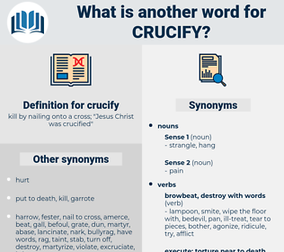 crucify, synonym crucify, another word for crucify, words like crucify, thesaurus crucify