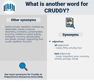 cruddy, synonym cruddy, another word for cruddy, words like cruddy, thesaurus cruddy