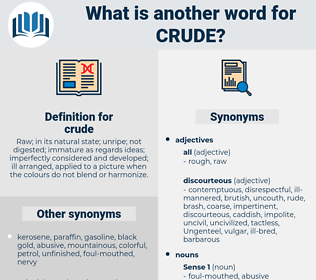 crude, synonym crude, another word for crude, words like crude, thesaurus crude