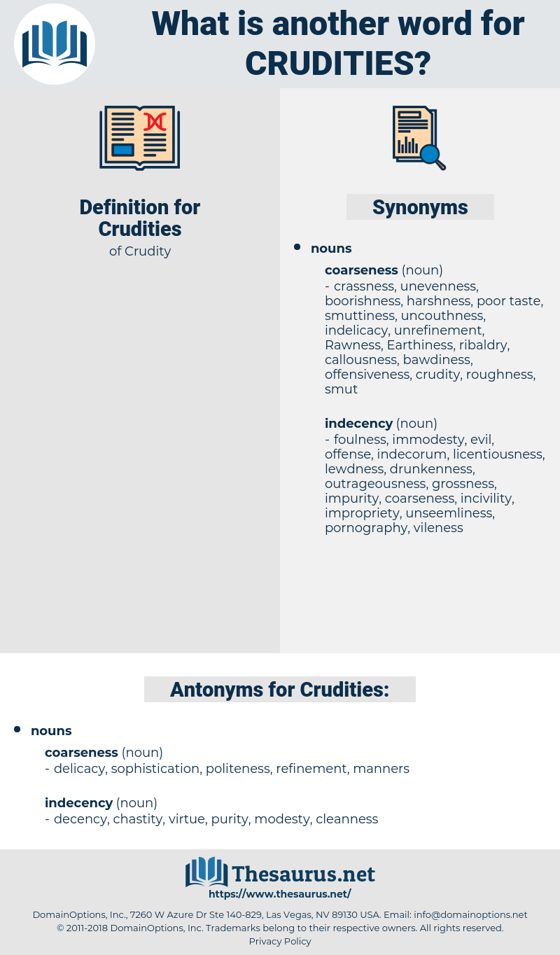 Crudities, synonym Crudities, another word for Crudities, words like Crudities, thesaurus Crudities