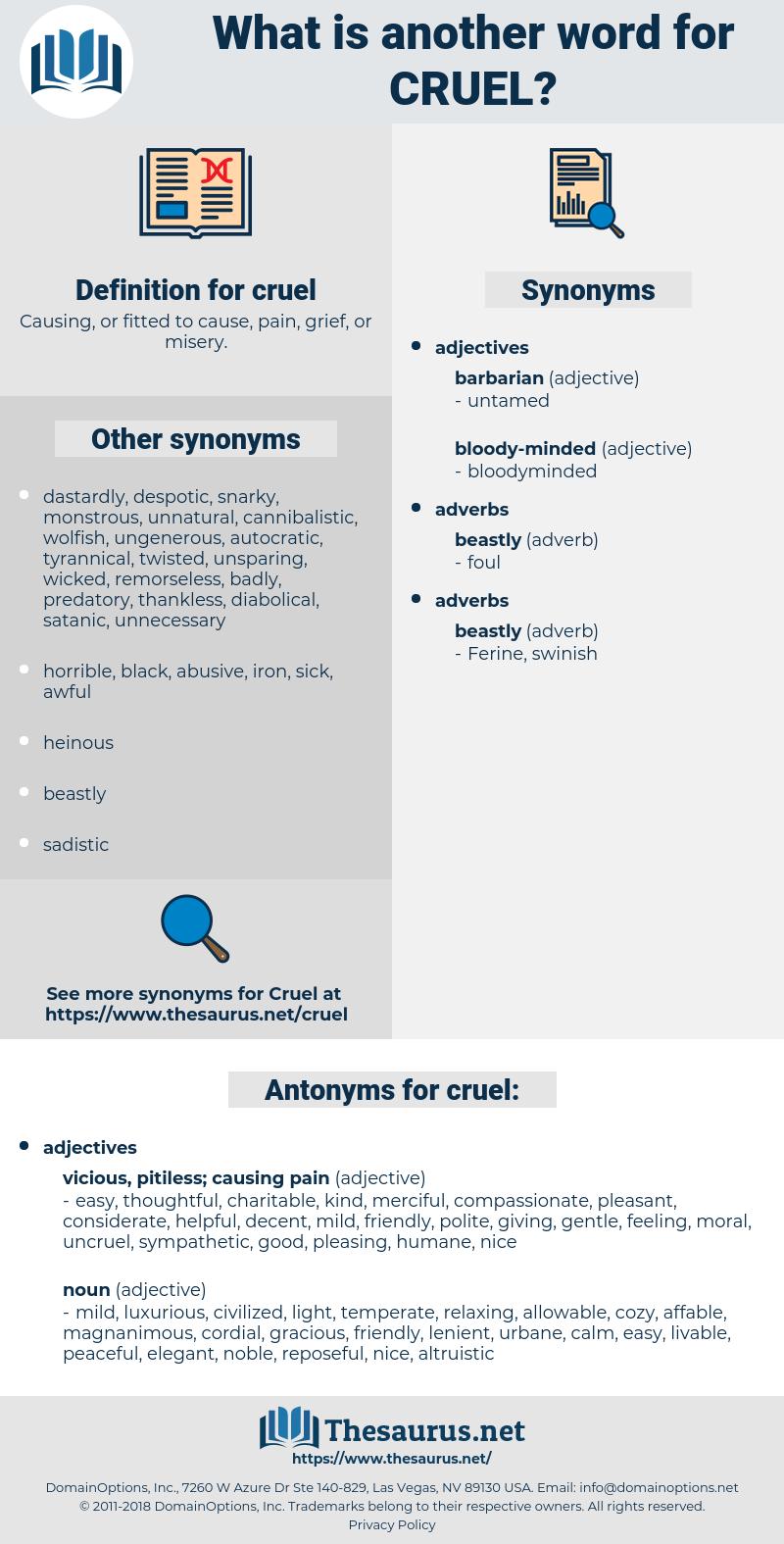 cruel, synonym cruel, another word for cruel, words like cruel, thesaurus cruel