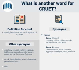 cruet, synonym cruet, another word for cruet, words like cruet, thesaurus cruet