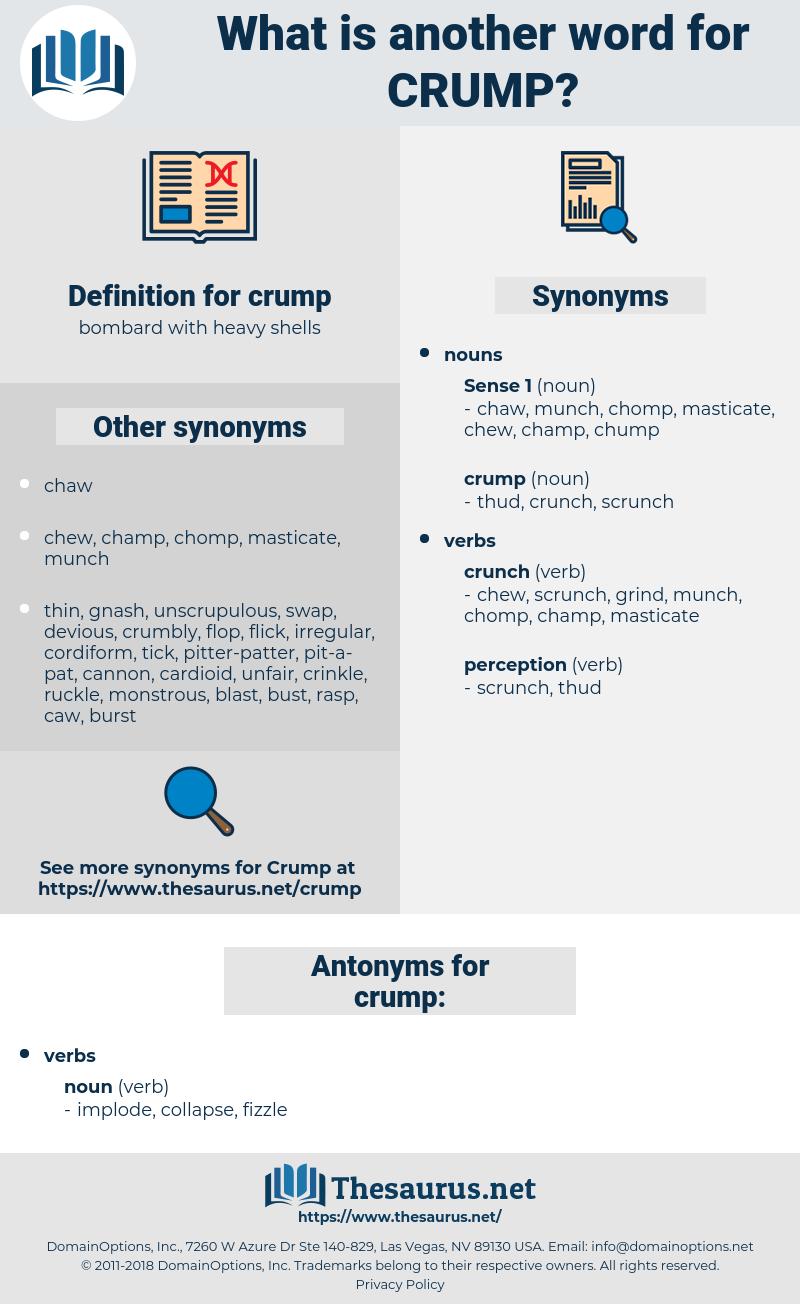 crump, synonym crump, another word for crump, words like crump, thesaurus crump
