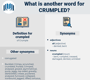 crumpled, synonym crumpled, another word for crumpled, words like crumpled, thesaurus crumpled