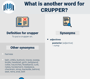 crupper, synonym crupper, another word for crupper, words like crupper, thesaurus crupper