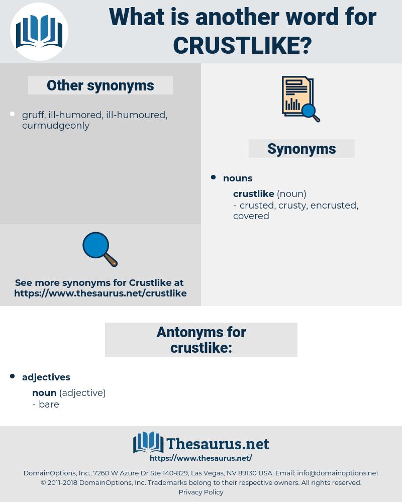 crustlike, synonym crustlike, another word for crustlike, words like crustlike, thesaurus crustlike