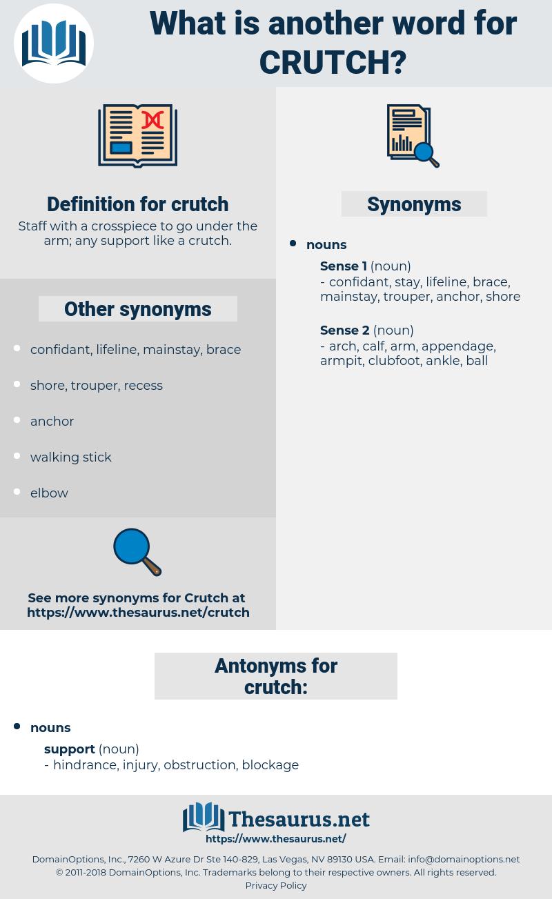 crutch, synonym crutch, another word for crutch, words like crutch, thesaurus crutch