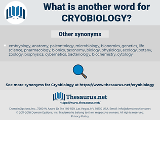 cryobiology, synonym cryobiology, another word for cryobiology, words like cryobiology, thesaurus cryobiology
