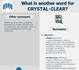 crystal clear, synonym crystal clear, another word for crystal clear, words like crystal clear, thesaurus crystal clear