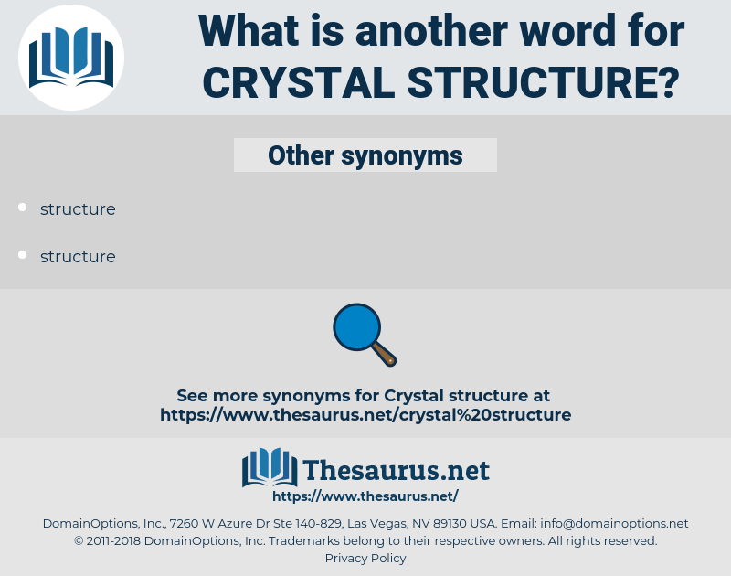 crystal structure, synonym crystal structure, another word for crystal structure, words like crystal structure, thesaurus crystal structure
