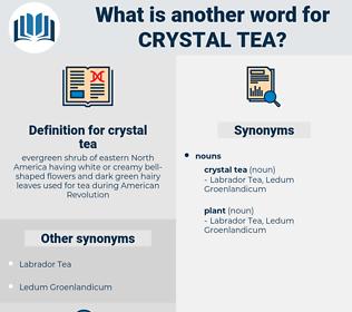 crystal tea, synonym crystal tea, another word for crystal tea, words like crystal tea, thesaurus crystal tea