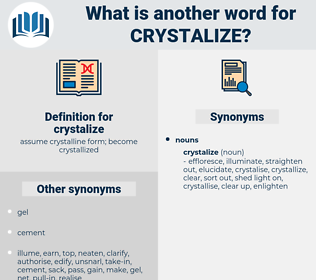crystalize, synonym crystalize, another word for crystalize, words like crystalize, thesaurus crystalize
