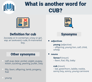 cub, synonym cub, another word for cub, words like cub, thesaurus cub