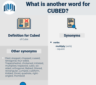 Cubed, synonym Cubed, another word for Cubed, words like Cubed, thesaurus Cubed