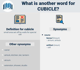 cubicle, synonym cubicle, another word for cubicle, words like cubicle, thesaurus cubicle