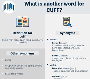 cuff, synonym cuff, another word for cuff, words like cuff, thesaurus cuff