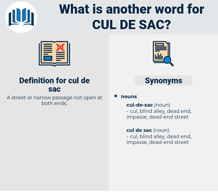 cul de sac, synonym cul de sac, another word for cul de sac, words like cul de sac, thesaurus cul de sac