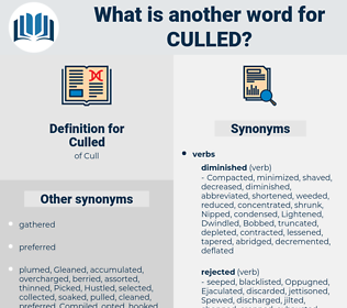 Culled, synonym Culled, another word for Culled, words like Culled, thesaurus Culled