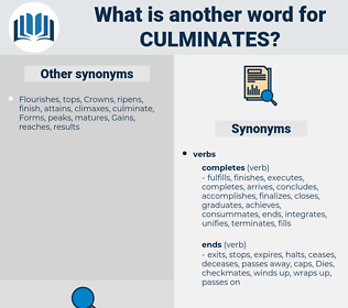 culminates, synonym culminates, another word for culminates, words like culminates, thesaurus culminates