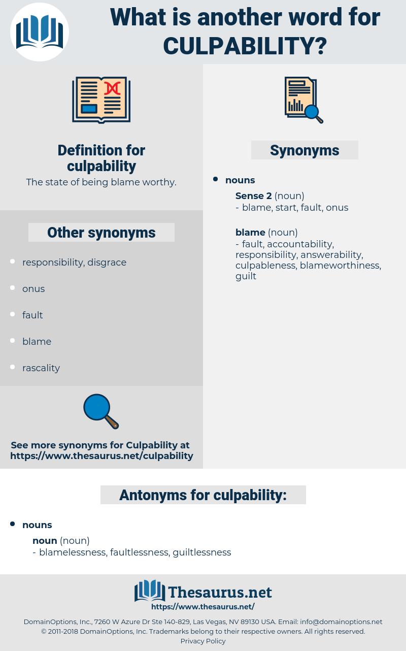 culpability, synonym culpability, another word for culpability, words like culpability, thesaurus culpability