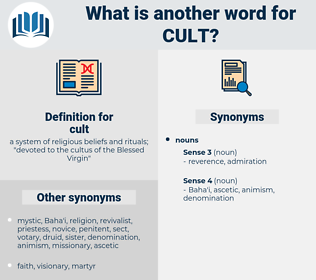 cult, synonym cult, another word for cult, words like cult, thesaurus cult
