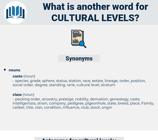 cultural levels, synonym cultural levels, another word for cultural levels, words like cultural levels, thesaurus cultural levels