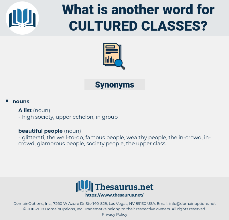 cultured classes, synonym cultured classes, another word for cultured classes, words like cultured classes, thesaurus cultured classes