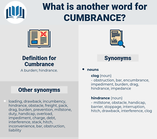 Cumbrance, synonym Cumbrance, another word for Cumbrance, words like Cumbrance, thesaurus Cumbrance