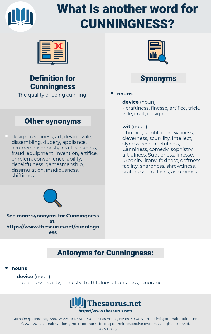 Cunningness, synonym Cunningness, another word for Cunningness, words like Cunningness, thesaurus Cunningness