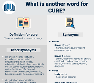 cure, synonym cure, another word for cure, words like cure, thesaurus cure