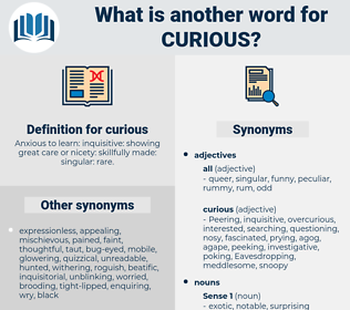 curious, synonym curious, another word for curious, words like curious, thesaurus curious