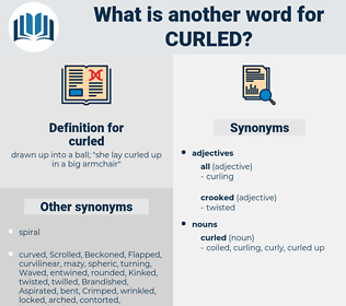 curled, synonym curled, another word for curled, words like curled, thesaurus curled