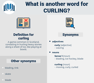 curling, synonym curling, another word for curling, words like curling, thesaurus curling