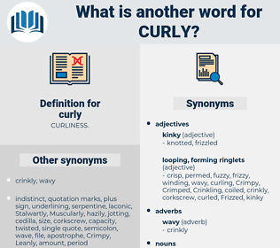 curly, synonym curly, another word for curly, words like curly, thesaurus curly