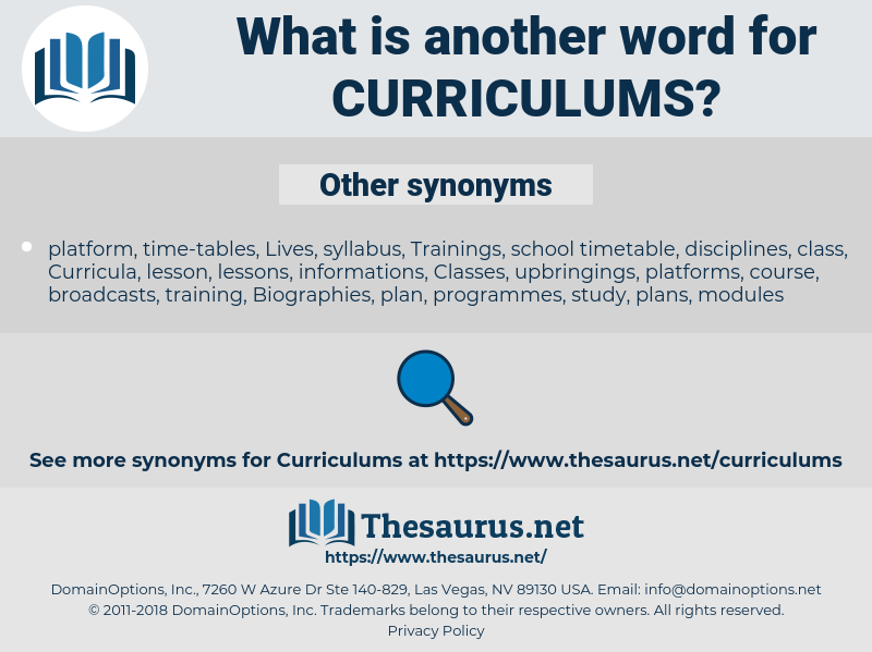 Curriculums, synonym Curriculums, another word for Curriculums, words like Curriculums, thesaurus Curriculums