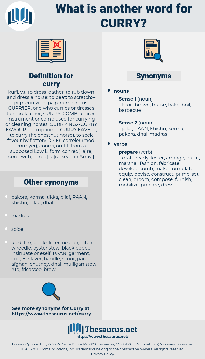curry, synonym curry, another word for curry, words like curry, thesaurus curry