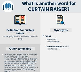 curtain-raiser, synonym curtain-raiser, another word for curtain-raiser, words like curtain-raiser, thesaurus curtain-raiser