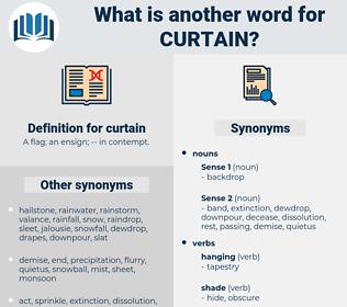 curtain, synonym curtain, another word for curtain, words like curtain, thesaurus curtain
