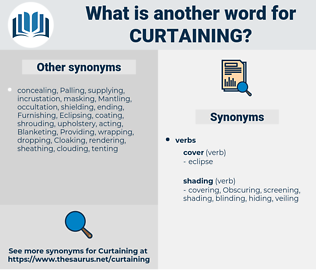 Curtaining, synonym Curtaining, another word for Curtaining, words like Curtaining, thesaurus Curtaining