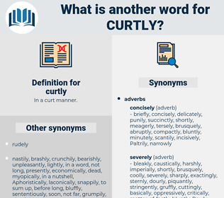 curtly, synonym curtly, another word for curtly, words like curtly, thesaurus curtly