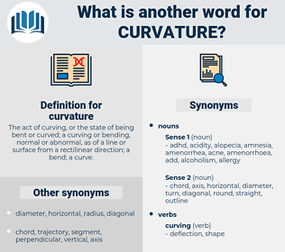 curvature, synonym curvature, another word for curvature, words like curvature, thesaurus curvature