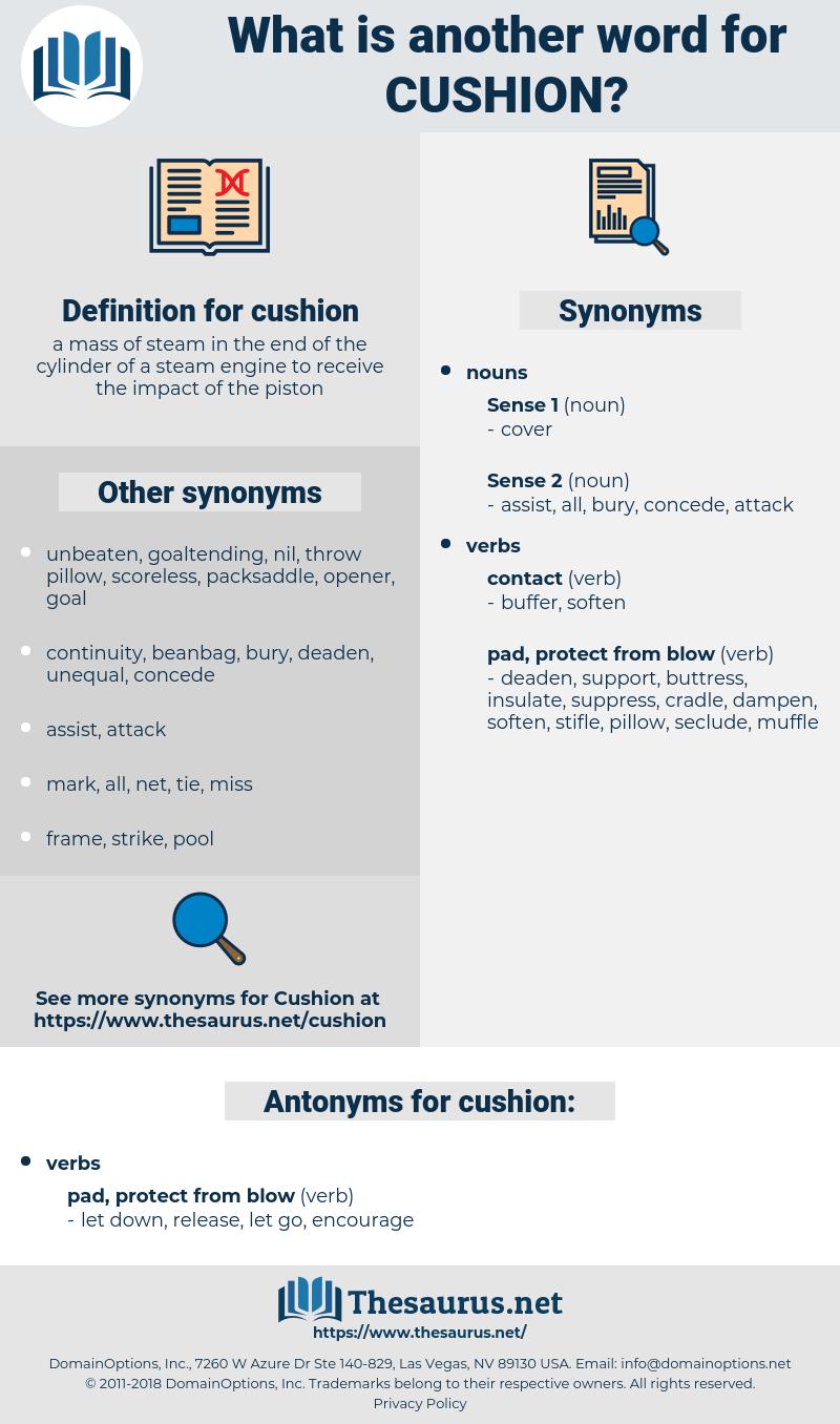 cushion, synonym cushion, another word for cushion, words like cushion, thesaurus cushion