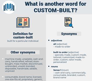 custom-built, synonym custom-built, another word for custom-built, words like custom-built, thesaurus custom-built