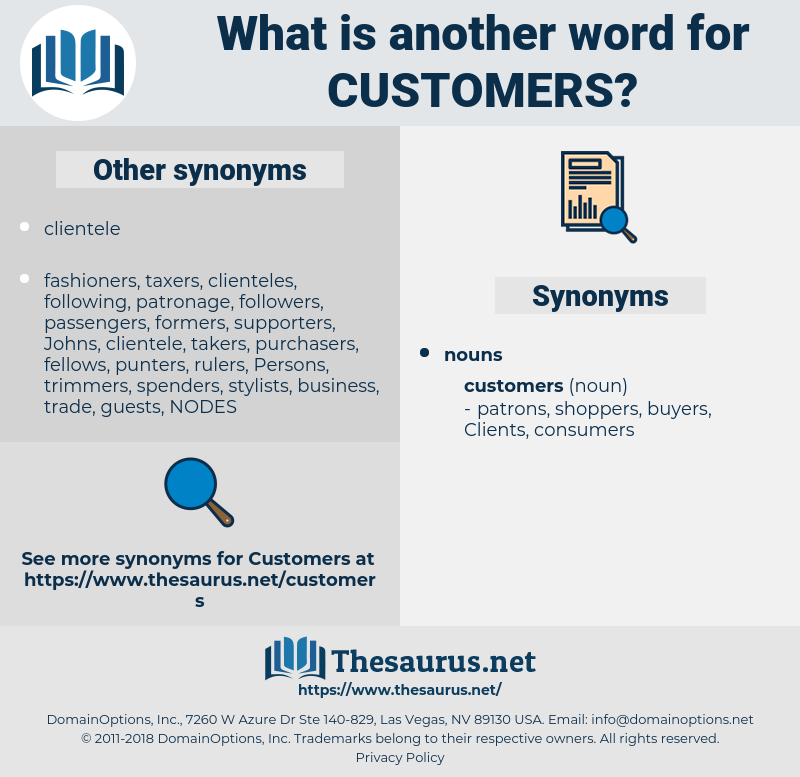 customers, synonym customers, another word for customers, words like customers, thesaurus customers