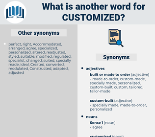 customized, synonym customized, another word for customized, words like customized, thesaurus customized