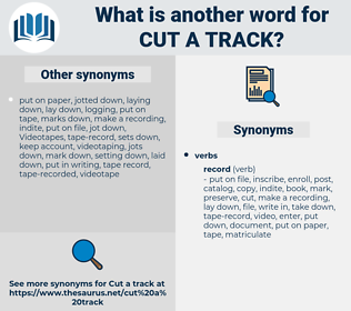 cut a track, synonym cut a track, another word for cut a track, words like cut a track, thesaurus cut a track