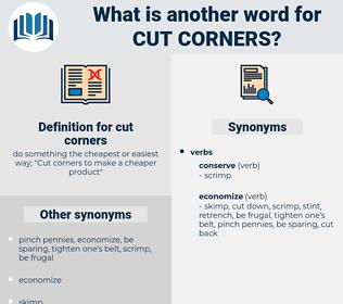 cut corners, synonym cut corners, another word for cut corners, words like cut corners, thesaurus cut corners