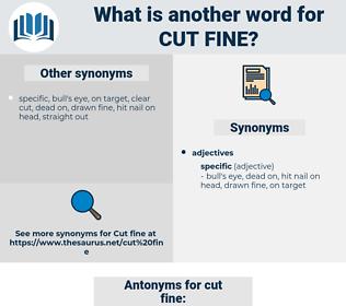 cut fine, synonym cut fine, another word for cut fine, words like cut fine, thesaurus cut fine