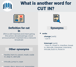 cut in, synonym cut in, another word for cut in, words like cut in, thesaurus cut in